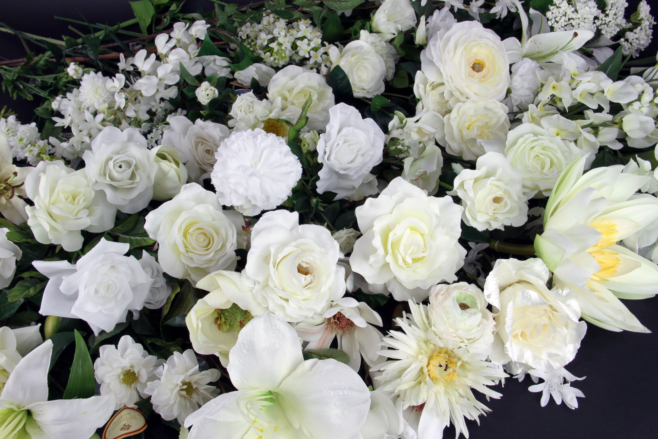 White silk flowers in store coupon for 52311 52811 shinoda white silk flowers at shinoda design center mightylinksfo