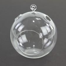 """5""""D GLASS BALL T-LITE HOLDER"""