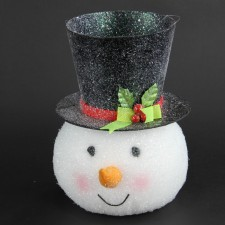 "10""SNOWMAN HEAD TREE TOPPER"