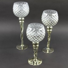 CANDLE HOLDER 3PC/ST
