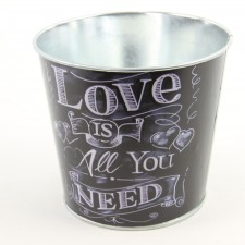 "4"" ""LOVE IS ALL YOU NEED"" POT"