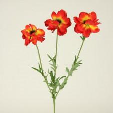 Anemones silk flower stems 23anemone spray x3 a25 mightylinksfo