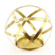 """7.7""""MTL SPHERE CANDLE HLDR"""
