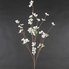 Dogwood silk flower stems 37wild dogwood spray white mightylinksfo Image collections