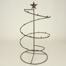 19 blk iron ornament tree-metal stands trees-christmas