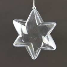 "4.25""CLEAR HANGING STAR ORNA"