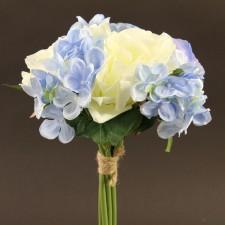 "13""ROSE HYDRANGEA CREAM/BLUE"