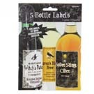 "5.25""HLLWN BOTTLE LABEL 5/PKG"
