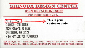 Shinoda Design Center Account Card Example