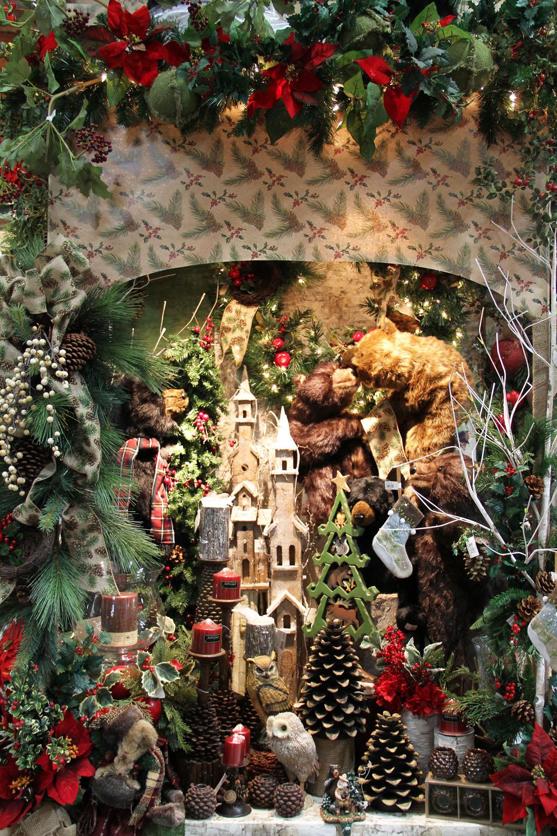 woodland christmas display