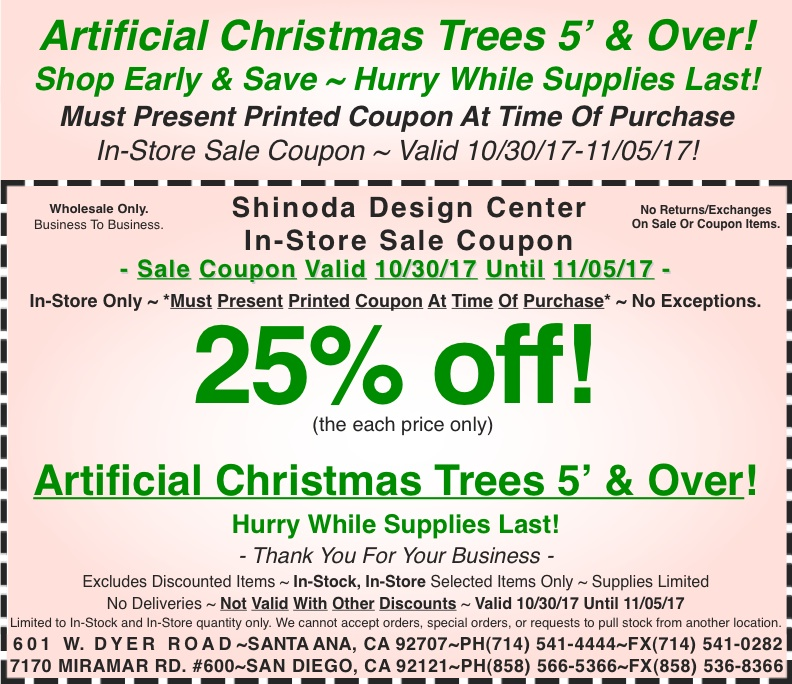 this - Christmas Tree Store Coupon