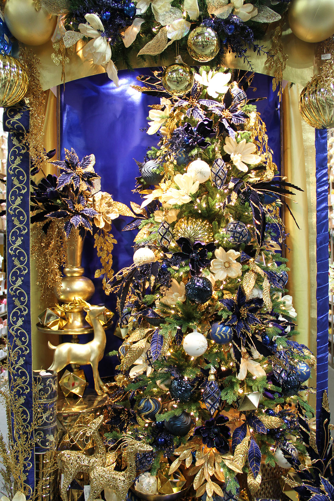 Golden Cobalt Blue Christmas Shinoda Design Center